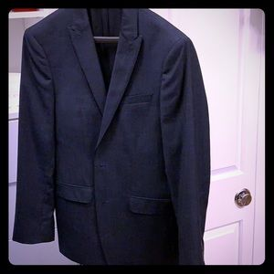 Calvin Klein Navy Stripe Slim Fit Suit - 38 R